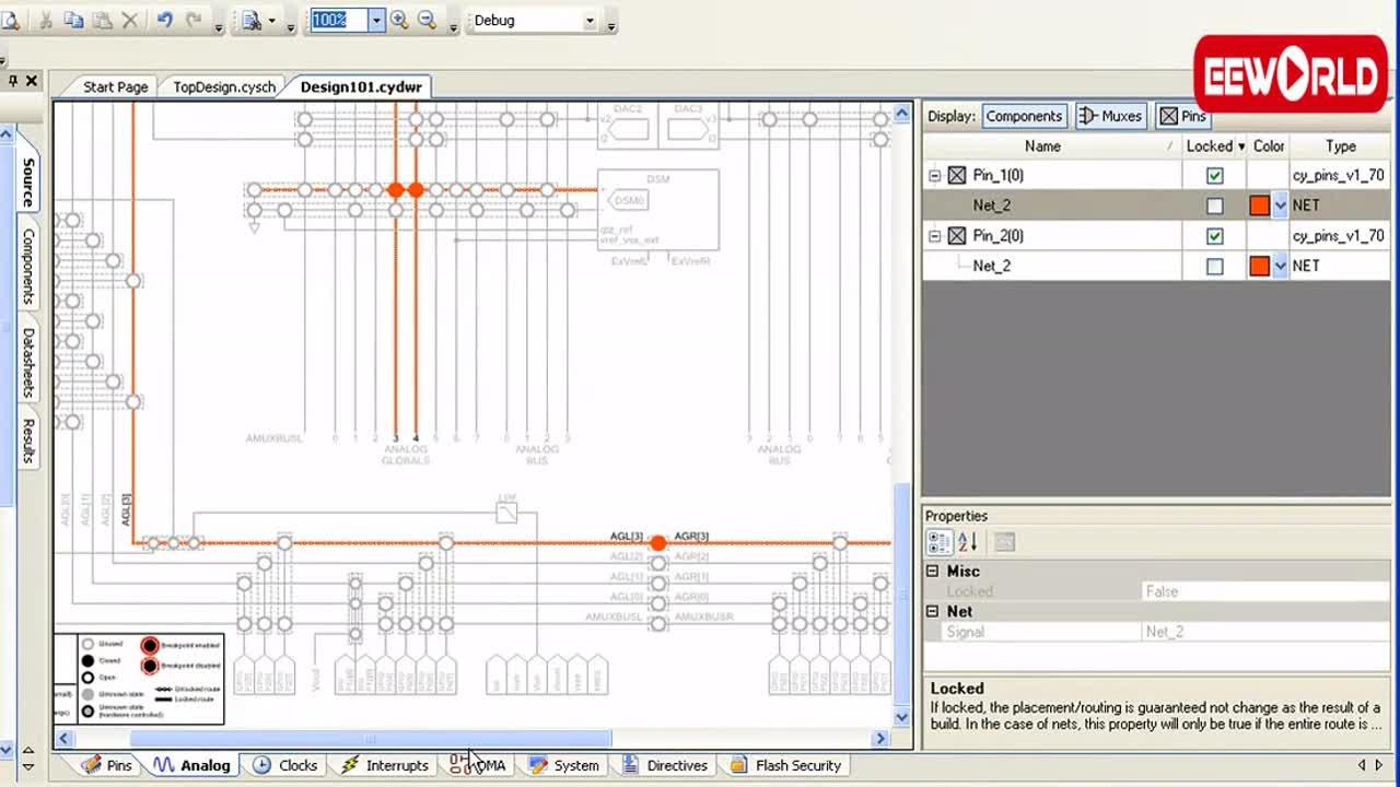 PSoC Creator模擬設計:引腳放置的模擬及注意事項